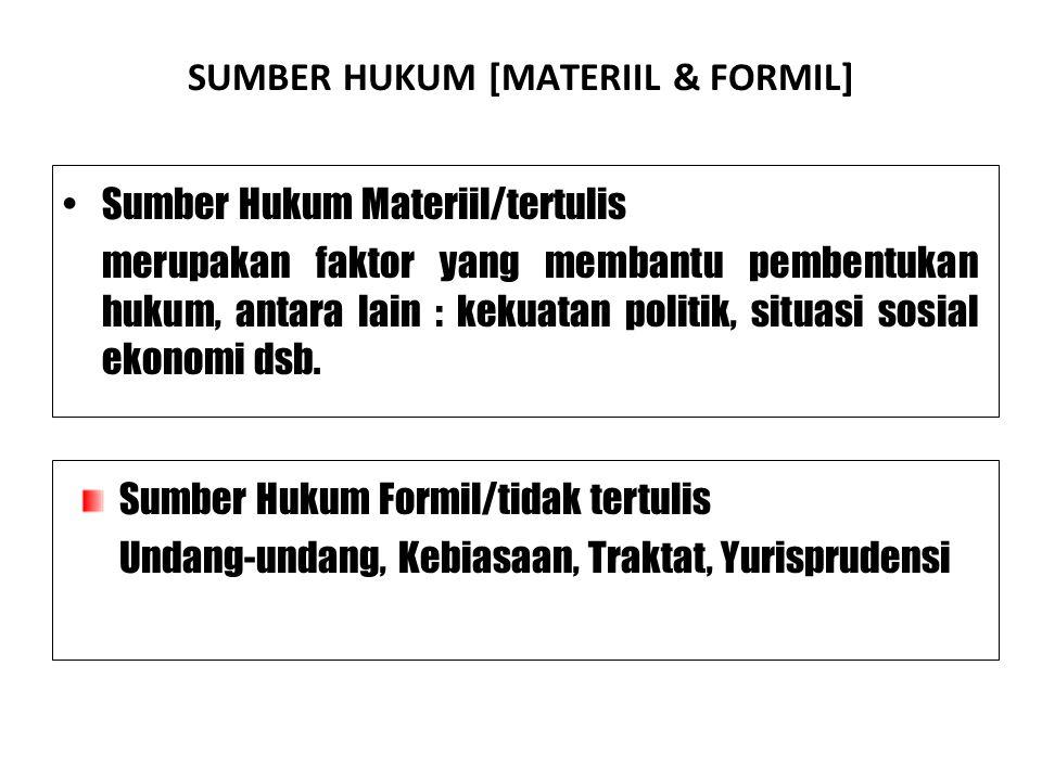 SUMBER HUKUM [MATERIIL & FORMIL]